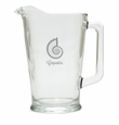 PERSONALIZED SPIRAL SHELL PITCHER  (GLASS)