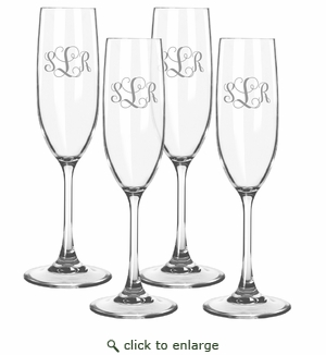 Personalized Tritan Champagne Flutes 6.5oz (Set of 4)  (Tritan Unbreakable)