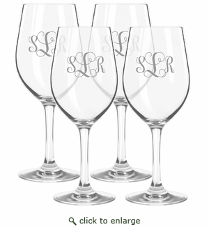 Personalized Tritan Wine Stems 12 oz (Set of 4)  (Tritan Unbreakable)