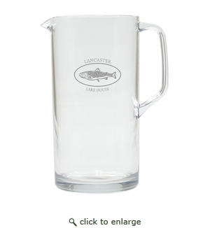 PERSONALIZED TROUT LAKE HOUSE PITCHER  (Unbreakable)