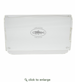 PERSONALIZED TROUT LAKE HOUSE SERVING TRAY WITH HANDLES (Unbreakable)