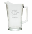 PERSONALIZED WHEEL ANCHOR PITCHER  (GLASS)