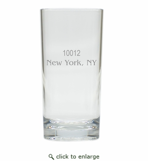 PERSONALIZED ZIP CODE COOLER: SET OF 6 (Glass)