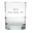 PERSONALIZED ZIP CODE OLD FASHIONED - SET OF 4 (Unbreakable)