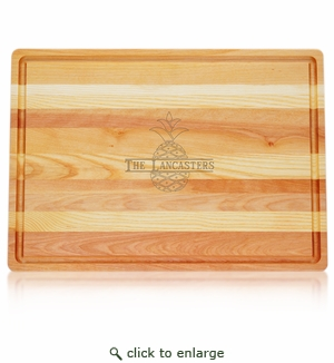 Pineapple Personalized Wooden Cutting Board