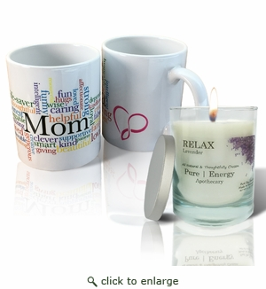 Pure Energy Apothecary Lavender  Candle and Mom Mug Set
