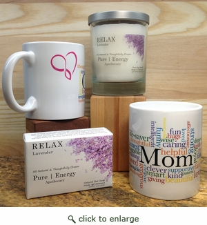 Pure Energy  Apothecary Lavender Soap, Candle and Mom Mug Set