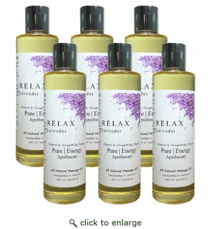 Pure|Energy Apothecary Massage Oil - Lavender 8 oz : Case of 6