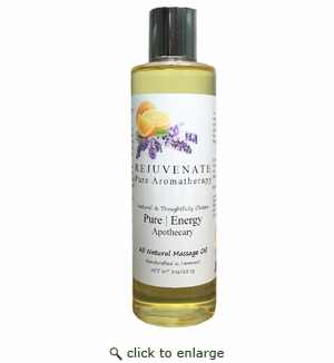 Pure Energy Apothecary Massage Oil - Pure Aromatherapy 8 oz