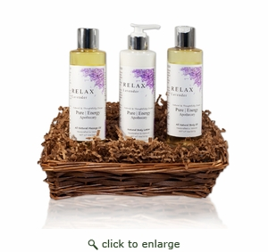 Pure|Energy Apothecary : Moisture Madness Gift Set # 2 Lavender with Basket
