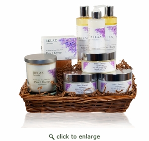 Pure|Energy Apothecary� : Premium Spa Collection Gift Set # 7 Lavender with Basket
