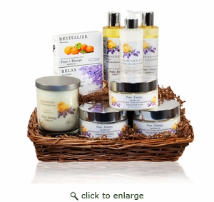 Pure|Energy Apothecary : Premium Spa Collection II Gift Set #8 Pure Aromatherapy with Basket