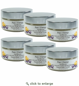 Pure|Energy Apothecary Pure Aromatherapy Bath Crystals 8 oz : Case of 6