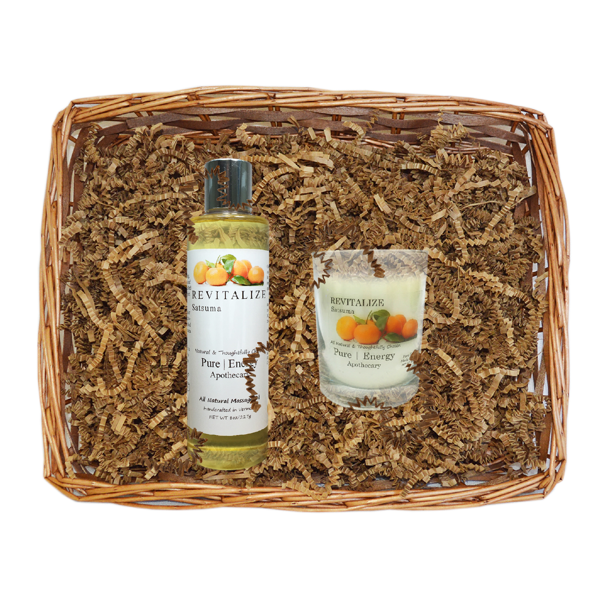 Pure|Energy Apothecary : Relaxing Ritual Gift Set # 4 Satsuma with Basket