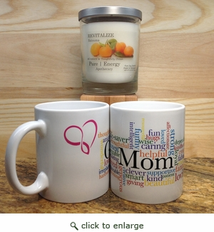 Pure energy Apothecary Satsuma Candle and Mom Mug Set