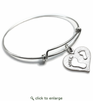 Pure|Energy {vt} Forever Charms & Bangles : Mother-Child Footprints