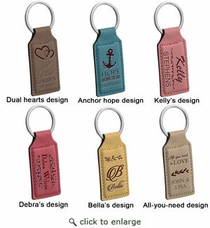 RECTANGLE KEYCHAIN : ASSORTED COLORS