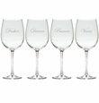 SANTA'S REINDEER 1-4 STEMWARE - SET OF 4 (GLASS)
