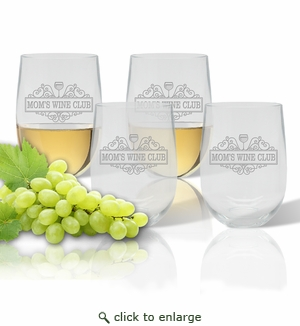 SET OF 4 WINE TUMBLERS(Unbreakable) - MOM'S WINE CLUB