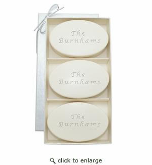 SIGNATURE SPA AQUA MINERAL TRIO: THREE BARS PERSONALIZED