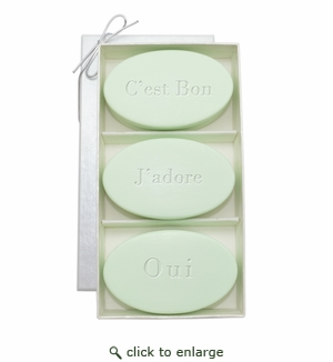 SIGNATURE SPA GREEN TEA & BERGAMOT TRIO: THREE BARS C'EST BON