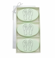 SIGNATURE SPA GREEN TEA & BERGAMOT TRIO: THREE BARS PERSONALIZED FLIP-FLOPS
