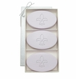 SIGNATURE SPA LAVENDER TRIO: THREE BARS FLEUR DE LIS