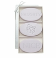 SIGNATURE SPA LAVENDER TRIO: THREE BARS PERSONALIZED NAUGHTY OR NICE