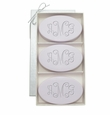SIGNATURE SPA LAVENDER TRIO: THREE BARS PERSONALIZED VINE MONOGRAM