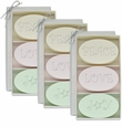 SIGNATURE SPA VERBENA, SATSUMA, GREEN TEA & BERGAMOT TRIO: 3 SETS of THREE BARS PEACE, LOVE, JOY