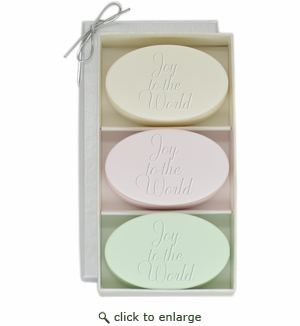 SIGNATURE SPA VERBENA, SATSUMA, GREEN TEA & BERGAMOT TRIO: THREE BARS JOY TO THE WORLD