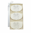 SIGNATURE SPA VERBENA TRIO: THREE BARS PERSONALIZED FLIP-FLOPS