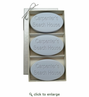 SIGNATURE SPA WILD BLUE LUPIN TRIO: THREE BARS PERSONALIZED BEACH HOUSE