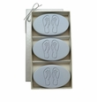 SIGNATURE SPA WILD BLUE LUPIN TRIO: THREE BARS PERSONALIZED FLIP-FLOPS