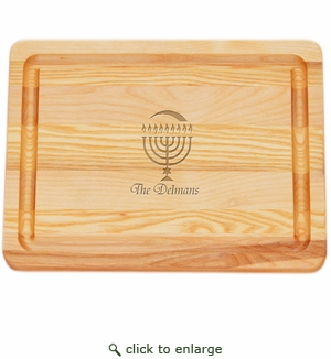 SMALL MASTER COLLECTION BOARD PERSONALIZED MENORAH