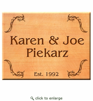 Square 6x6 Personalized Western Red Cedar Sign