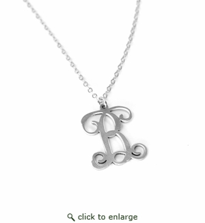 STERLING SILVER VINE INITIAL