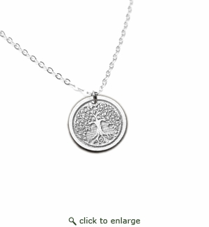 Tree Of Life Pendant .935 Argentium Sterling Silver