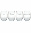 UN DEUX TROIS WINE STEMLESS TUMBLER - SET OF 4 (GLASS)