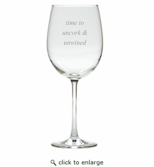 UNCORK AND UNWINED WINE STEMWARE - SET OF 4 (GLASS)