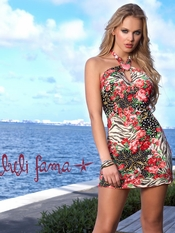 Luli Fama Heart Twist Dress- Final Sale