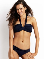 Seafolly Black Goddess Bandeau Hipster - On Sale