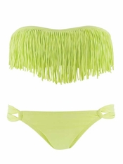 L Space Citrus Dolly Fringe Bandeau Taboo- Final Sale