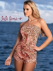 Luli Fama Dale Guapa Strapless Romper - On Sale