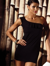 Jolidon One Shoulder Black Dress- Final Sale