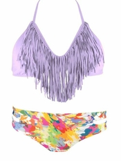 L Space Lavender Audrey Fringe Estella - Final Sale
