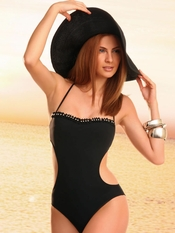 Jolidon Black Bandeau Monokini - Final Sale