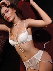 Jolidon Glamor Ivory Lingerie Set - On Sale