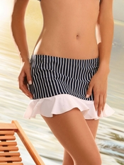 Jolidon Navy Stripes Skirt - On Sale