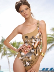 Prelude Paradise Birds One Shoulder Swimsuit - Final Sale
